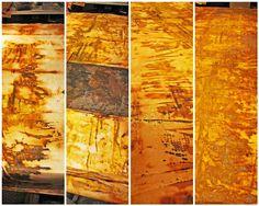 Jennifer Coyne Qudeen: December 2011..think I found fiber heaven...LOVE this lady's fiber and rust experimentations!