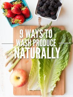 Save money by making homemade vegetable wash to remove pesticides and dirt naturally. Choose from 9 veggie wash recipes that work, using ingredients you already have! How To Wash Vegetables, Fruits And Veggies, How To Wash Strawberries, Freeze Avocado, Homemade Bleach, Real Food Recipes, Healthy Recipes, Fruit Recipes, Healthy Eats