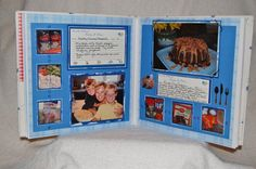 Recipe Scrapbook - Neat idea if you really had the time and desire to put something like that together.