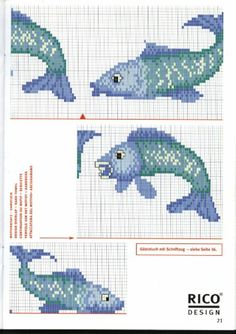 ♥ My point Graphs Cruz ♥: Bathroom Graph Crochet, Crochet Cross, Crochet Patterns, Cross Stitch Borders, Cross Stitch Designs, Cross Stitch Patterns, Beaded Braclets, Rico Design, Fish Patterns