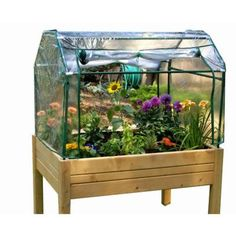 Riverstone 3 ft. x 4 ft. Eden Mini Greenhouse with Enclosed Herb Garden-RGB-LE at The Home Depot