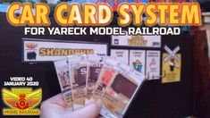 Car Card System for model railroad Ho Trains, Model Trains, Car Card, Videos, Cards, Maps, Playing Cards