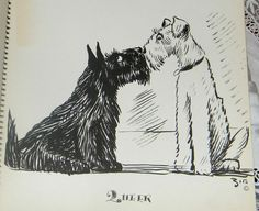 1937 Vintage Book Dogs By Zito Illustrated Caricaturist Sketches 32 Pgs B&W 12x9
