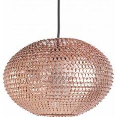 Gezien op Beslist.nl: Plafondlamp koper