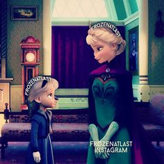 Elsa and one of the twins, Janna. She has fire powers. Modern Disney Characters, Pixar Characters, Disney Princess Art, Disney Fan Art, Jelsa, Disney Adoption, Elsa Baby, Frozen Book, Elsa And Hans