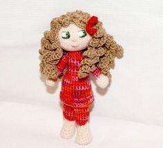 amigurumi doll SUSAN,wool toy,plush doll, gift,toy, art doll, crochet amigurumi toys. €32.00, via Etsy.