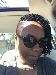 Kinky twist with shaved sides