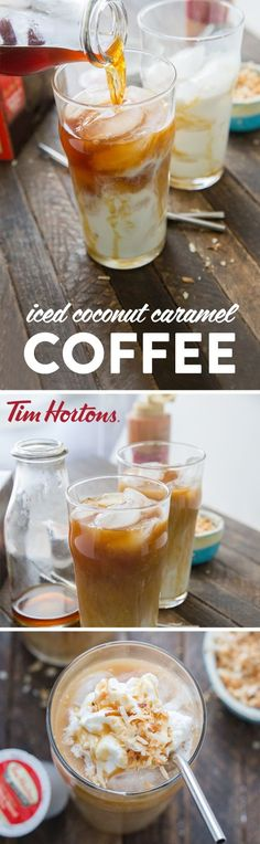 Need a coffee pick me up? Enjoy an Iced Macchiato right at home thanks to this easy and refreshing recipe! When it comes to morning kickstarts or mid-day treats that help you cool down during the summer, nothing can beat this delicious combination of coconut almond milk, Tim Hortons Original Blend Coffee, caramel sauce, and a topping of whipped cream and toasted coconut! Grab all the ingredients you need to make this sweet and energizing drink with $1.50 off all Tim Horton's...