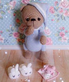 Knitting Teddy Bear Story 5 Free pattern and Tutorials : Knitting Teddy Bear Story Knitted Teddy Bear, Crochet Teddy, Crochet Bear, Crochet Toys, Amigurumi Doll, Amigurumi Patterns, Crochet Patterns, Knitting Blogs, Baby Knitting