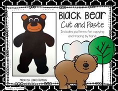 Black Bear Cut and PasteThis is a black bear cut and paste project.   $