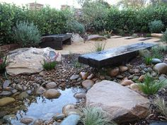 Australian Native Garden Northern Beaches Sydney- sleeper seating