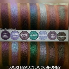 LOOXI BEAUTY SWATCHES: DUOCHROMES (PART 2)  Next set of LOOXI duochromes!! ROYAL…