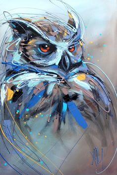 Bright Paintings of Animal Portraits Owl Art, Bird Art, Portrait Art, Pet Portraits, Wildlife Art, Acrylic Painting Canvas, Animal Paintings, Art Techniques, Painting & Drawing