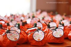 teacher appreciation gift: thank you for teaching our little pumpkins