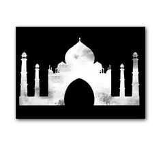 The Taj Mahal Fine art print Black and White by ialbert on Etsy
