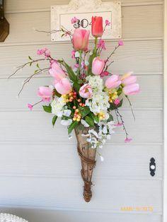 Image result for wall hanging flower baskets
