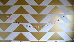 Smaller triangles than this for a bathroom maybe? Vinyl Triangle Wall Decals