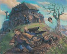 Ilustração oficial - Prisioneiro de Azkaban