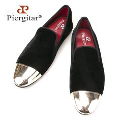 108.00$  Watch here - http://ali7cq.worldwells.pw/go.php?t=32537650845 - New style front and back metal cap men velvet shoes Fashion Pointed Toe Men Loafers wedding and party noble slip on men's flat