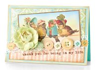 For Being in My Life Card by Melissa Phillips - supplies and instructions included