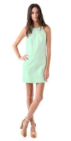 3 1 Phillip Lim Mint Green Cotton Silk Shift Dress Resort Sz 0 Small $525 Formal | eBay