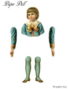 Vintage Printable Paper Doll Boy