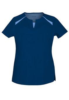 Cute split v-neck top from the Cherokee Luxe line! Stylish Scrubs, Scrubs Uniform, Cherokee Scrubs, Medical Uniforms, Scrub Tops, Material Design, V Neck Tops, Cool Style, Mens Tops