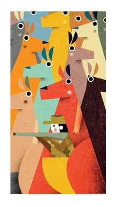 Spot illustrations for Monocle magazine. by Philip Giordano, via Behance