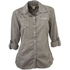 The Natural Reflections Pigment-Dyed Slub Shirt for ladies is cool, casual, and on-trend. Great with khakis or a skirt, this 100% cotton slub shirt features a button-up front, 2 button-flap chest pockets, and roll-up sleeves with button tabs. Princess seams give this button-down shirt a feminine fit. Machine wash, tumble dry. Imported. Button-up front2 button-flap chest pockets Princess seams Roll-up sleeves with button tabs Made of 100% cotton slub