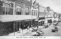 tyler texas historical photos | Tyler Texas - North Spring Ave., East Side Square