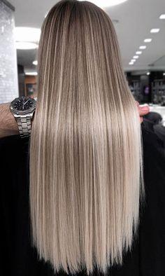 Perfect Blonde Hair, Dyed Blonde Hair, Blonde Hair Looks, Brown Hair Balayage, Brown Blonde Hair, Hair Highlights, Natural Blonde Hair With Highlights, Balayage Straight Hair, Cute Hair Colors