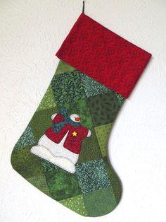 christmas applique stocking ideas   christmas stockings