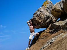 Sisyphus stock photo