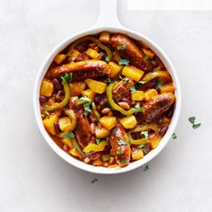 essential Waitrose midweek sausage & bean stew
