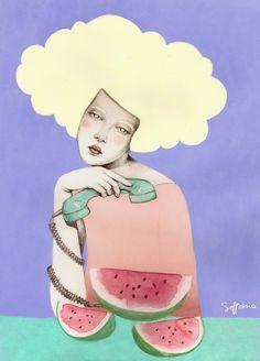 Sofia Bonati - Illustration - Leda