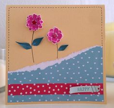 create this stamped flowers card with a effect, using the Home Sweet Home collection from Craft Asylum and our handy step by step guide! Sweet Home Collection, Love Stamps, Flower Stamp, Asylum, Our Love, Scrapbook Layouts, Scrapbooking, Diy, Quick Cards