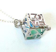 Love Locket Necklace Genuine Sea Glass Jewelry In Sterling Silver Heart Locket, Locket Necklace, Sea Glass Jewelry, Handcrafted Jewelry, Special Gifts, Gems, Turquoise, Club, Fan