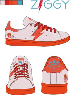 Projet Design Produit, design de sneakers, Adidas Stan Smith Tribute to David Bowie