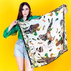 Helen Ruth Scarves - Luxury printed scarves from hand illustrated designs, each telling its own unique story. Printed Scarves, Edinburgh Fringe Festival, Shows 2017, Field Notes, Hand Illustration, Summer Colors, Indie Brands, Contemporary Design, Luxury