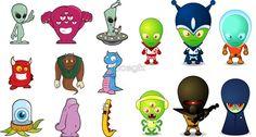 cartoon aliens - Google Search