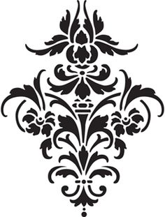 Brass Embossing Templates - Damask Large