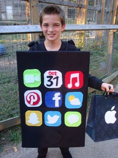 Apple iPhone Halloween Costume Handmade iPod Unique Hand Made boys girls…