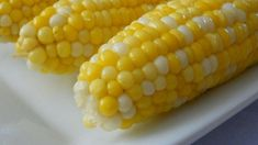 Use a little sugar and lemon juice in the water to make the sweetest, quickest, tastiest boiled corn on the cob.