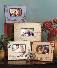 Inspiration for DIY....  DIY Decorated Wooden Frames