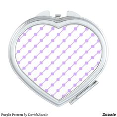 Purple Pattern Compact Mirror  Available on many more products! Type in the name of this design in the search bar on my Zazzle products page!   #abstract #art #pattern #design #color #accessory #accent #zazzle #buy #sale #fashion #tote #bag #mirror #compact #make-up #women #living #modern #chic #contemporary #style #life #lifestyle #minimal #simple #plain #minimalism #square #line #white #purple
