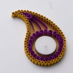 Quilling Diya (Candle Holder) - A modern way to light up and decor your home this Diwali
