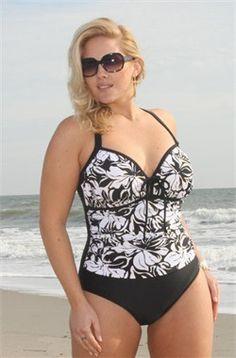 – Women's Plus Size Swimwear – Twist Front Bandeau – Sizes ...