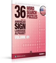 *** NEW RELEASE ***  ASL Fingerspelling Games – 36 Word Search Puzzles with the American Sign Language Alphabet: Volume 01   *** Fingerspelling Word Search Games for Adults ***