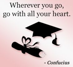 Confucius on graduating