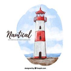 Картинки по запросу nautical watercolor background